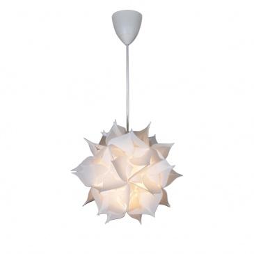 Lampa wisząca 80x32cm Lampex Dona 1 biała 417/1