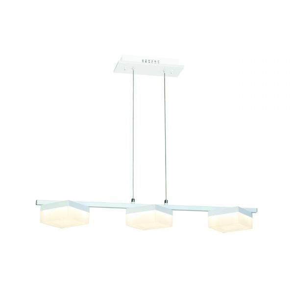 Lampa wisząca 90x100cm Milago Cubo biało-szara 5902693731610
