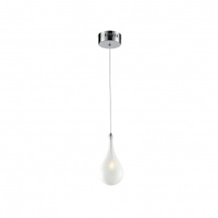 Lampa wisząca Avia 1 Lampex srebrno-biała