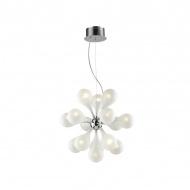Lampa wisząca Avia 15 Lampex srebrno-biała