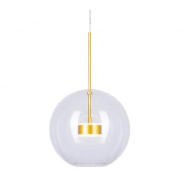 Lampa wisząca BUBBLES -1 LED transparentno-złota