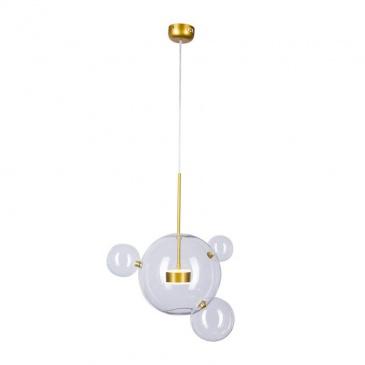 Lampa wisząca BUBBLES 3+1 LED złota 3000K