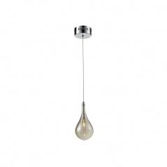 Lampa wisząca Ferrara 1 Lampex srebrno-szara