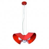 Lampa wisząca Gemma 3 Lampex pomarańczowo-czerwona