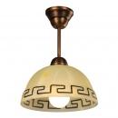 Lampa wisząca (klosz greka ambra)