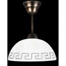Lampa wisząca (klosz greka biała)