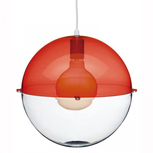 Lampa wisząca Koziol Orion czerwona KZ-1911113