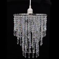 Lampa wisząca kryształowa z abażurem