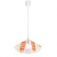 Lampa wisząca Lampex F biało-pomarańczowa