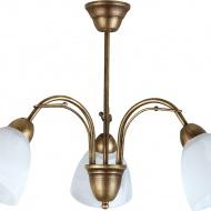 Lampa wisząca Lampex Klara 3 biało-złoty