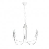 Lampa wisząca Lampex Nikozja 3 biała