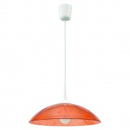Lampa wisząca Lampex pomarańczowa