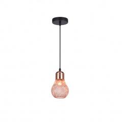 Lampa wisząca Lilia 1 Lampex czarno-miedziana