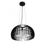 Lampa wisząca Liwia Lampex czarna