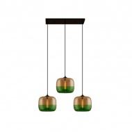 Lampa wisząca London Loft 5 CL AG Altavola Design zielona