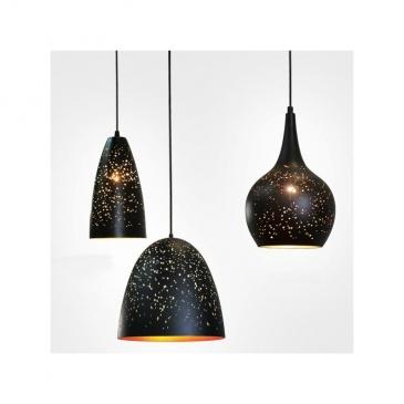 Lampa wisząca 30x30cm Altavola Design Magic Space 3 czarno-złota