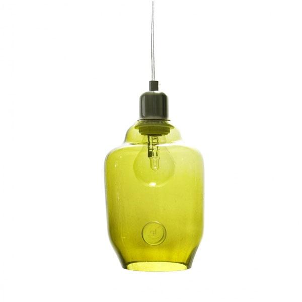 Lampa wisząca mała Gie El oliwkowy LGH0062