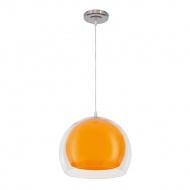 Lampa wisząca Malta Lampex pomarańczowa
