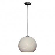 Lampa wisząca Melba B Lampex srebrno-szara