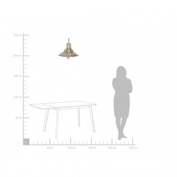Lampa wisząca mosiężna PINEGA