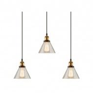 Lampa wisząca New York Loft 1 CL 150x75 cm ALTAVOLA DESIGN złota