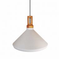 Lampa wisząca NORDIC WOODY drewniano - biała 35 cm