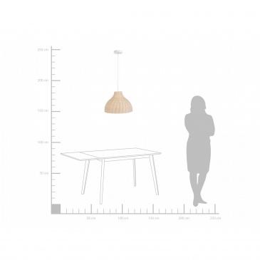 Lampa wisząca rattanowa jasne drewno MILLIAN
