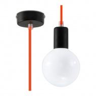 Lampa wisząca Sollux Lighting Edison pomarańczowa