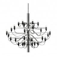 Lampa wisząca śr.85cm King Home Gino inox/czarna