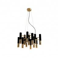 Lampa wisząca Step into design Golden Pipe-13 złoto-czarna