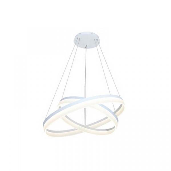 Lampa wisząca sterowana 100x60cm Milagro Ring biała 5902693700654
