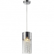 Lampa wisząca Torino 1 Lampex srebrno-przezroczysta