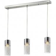 Lampa wisząca Torino 3 Lampex srebrno-przezroczysta