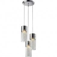 Lampa wisząca Torino 3P Lampex srebrno-przezroczysta