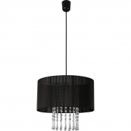Lampa wisząca Wenecja Lampex Czarna