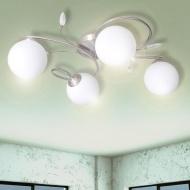 Lampa wisząca z akrylowymi kryształowymi liśćmi bezbarwna