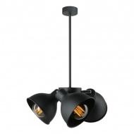 Lampa wisząca Zoe 3 Lampex czarna