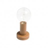 Lampka 15x11cm Lampex Woody brązowa
