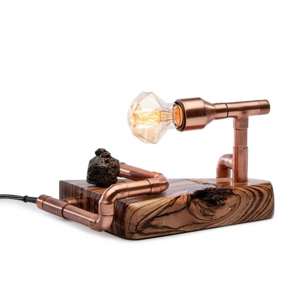 Lampka stołowa ręcznie robiona Hvita Custom Woods CL-004
