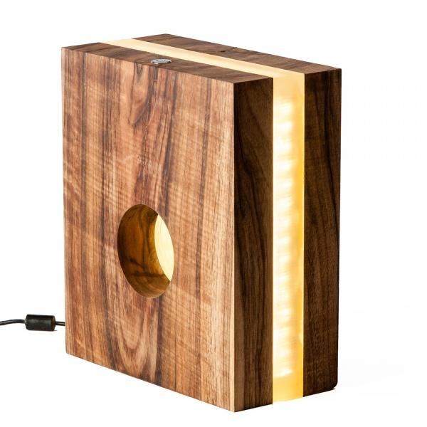 Lampka stołowa ręcznie robiona Silfra Zebrano Custom Woods CL-015