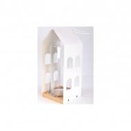 Latarnia Dom 29x14x14 cm NORDIFRA biała