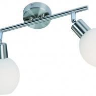 Listwa Lampex Napoli 2 biało-srebrna