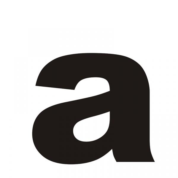 """Litera na dom DekoSign """"a"""" czarna LITERAA1-1"""