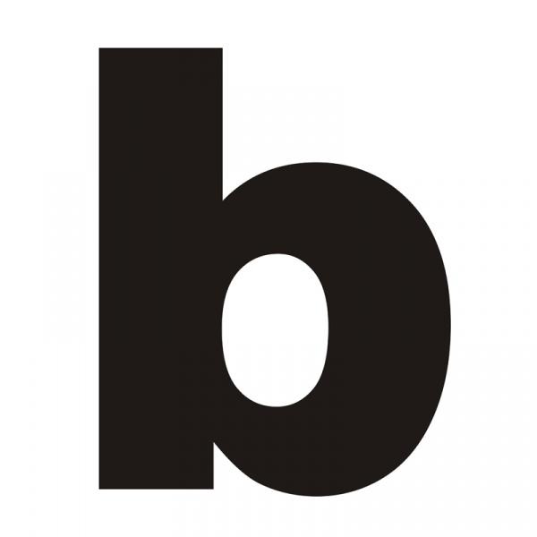 """Litera na dom DekoSign """"b"""" czarna LITERAB1-1"""