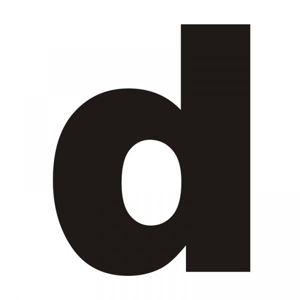 """Litera na dom DekoSign """"d"""" czarna LITERAD1-1"""