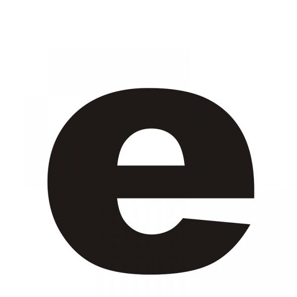 "Litera na dom DekoSign ""e"" czarna LITERAE1-1"