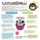 LotusGrill® STYLOWY NIEBIESKI - Mini