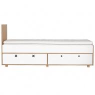 Łóżko 205,5x45 Durbas Style Kółko Krzyżyk białe