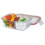 Lunch box dwukomorowy 17,5x15x6 cm Kuchenprofi przeźroczysty