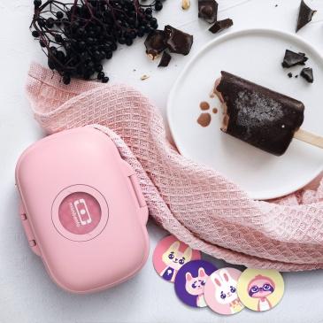 Lunch box dziecięcy Gram, Pink Blush